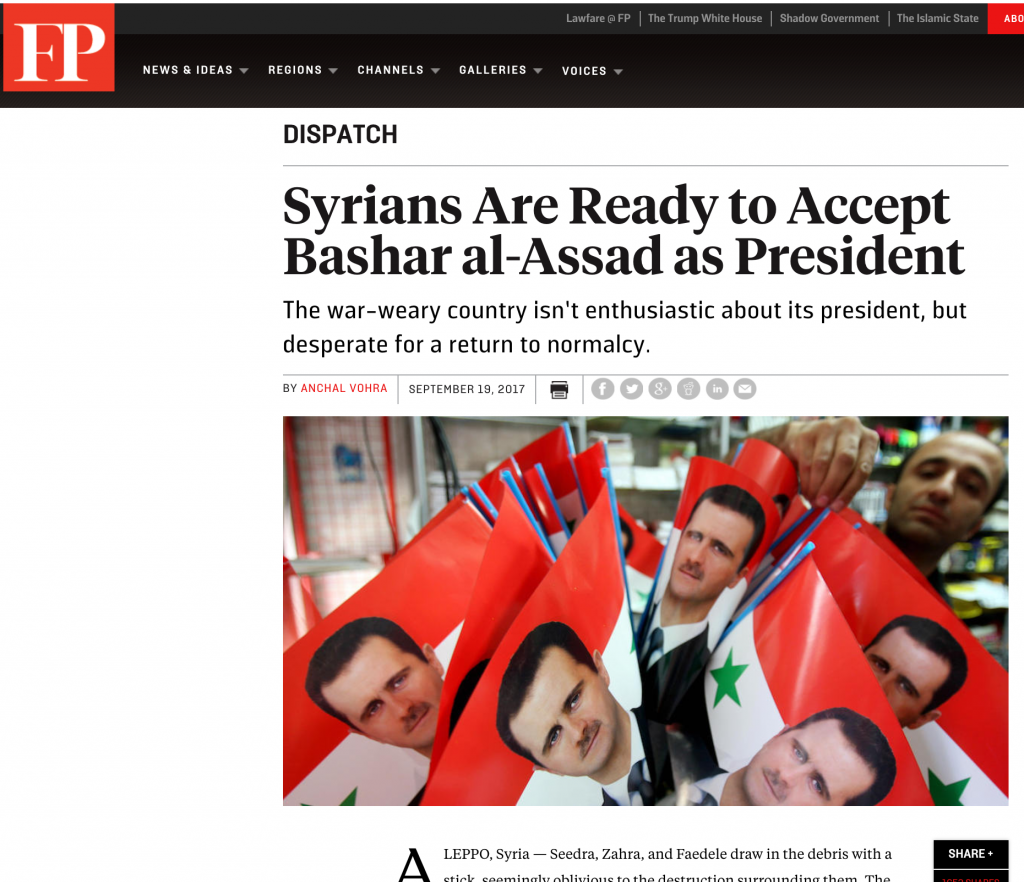 Reconciling to Assad